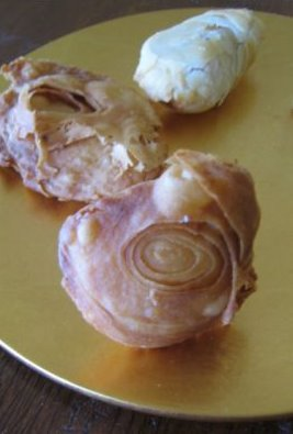 Asian Puff Pastry, Fried(Front) and Baked(Back)