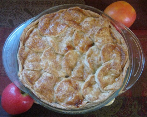 Persimmon and apple pie
