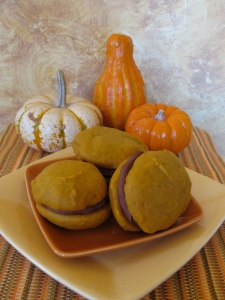 Oatmeal stout lends a rich, earthy undertone to these chocolate-filled pumpkin whoopie pies.